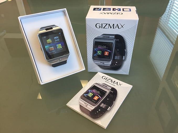 GIZMAX SMART WATCH Bluetooth Smart Watch with Camera Microphone SIM CARD SD Card