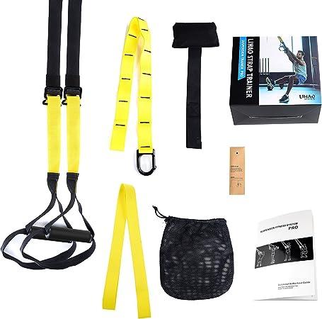 LIHAO Cuerdas de Suspensión para Entrenamiento de Ejercicios Fitness: Fortalecimiento, Resistencia y Estiramiento para Los Músculos - hasta 400KG para ...