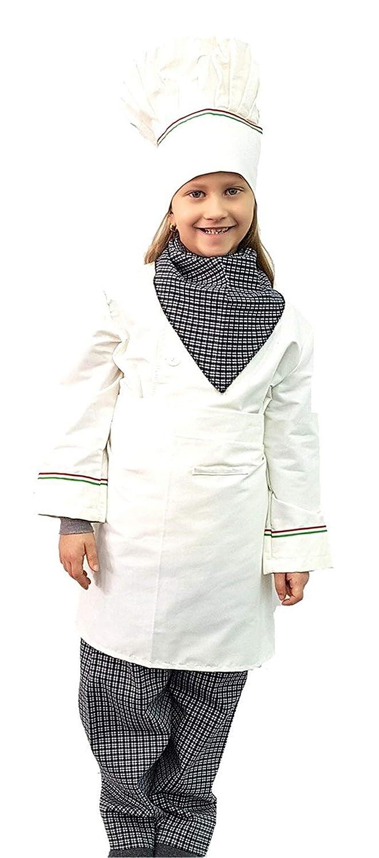 pequeños monelli Disfraz Cocinero Niño 5 - 6 años Vestido Master ...