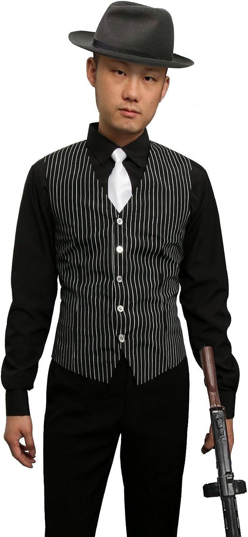 Amazon Com 1920s Adult Men S Gangster Shirt Vest And Tie Costume