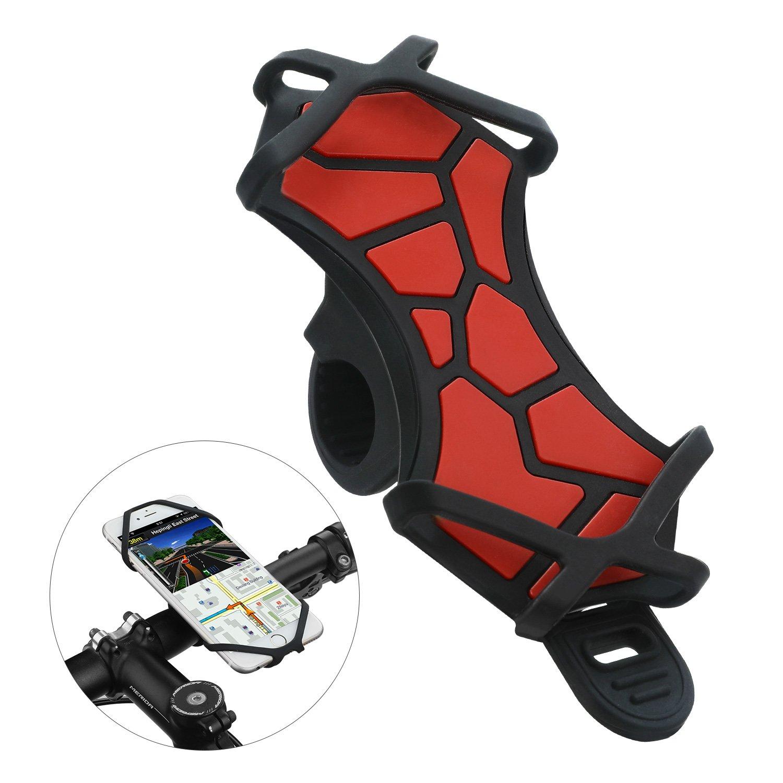 VOGEK Fahrrad Handyhalter, Handyhalterung Fahrrad fü r iPhone X/8/7/6/6s Plus Samsung Galaxy & Allen Handy mit 4,3-6,0 Zoll Bildschirm Verstellbarer Handyhalter fü r Fahrrad Motorrad Vogek-50E