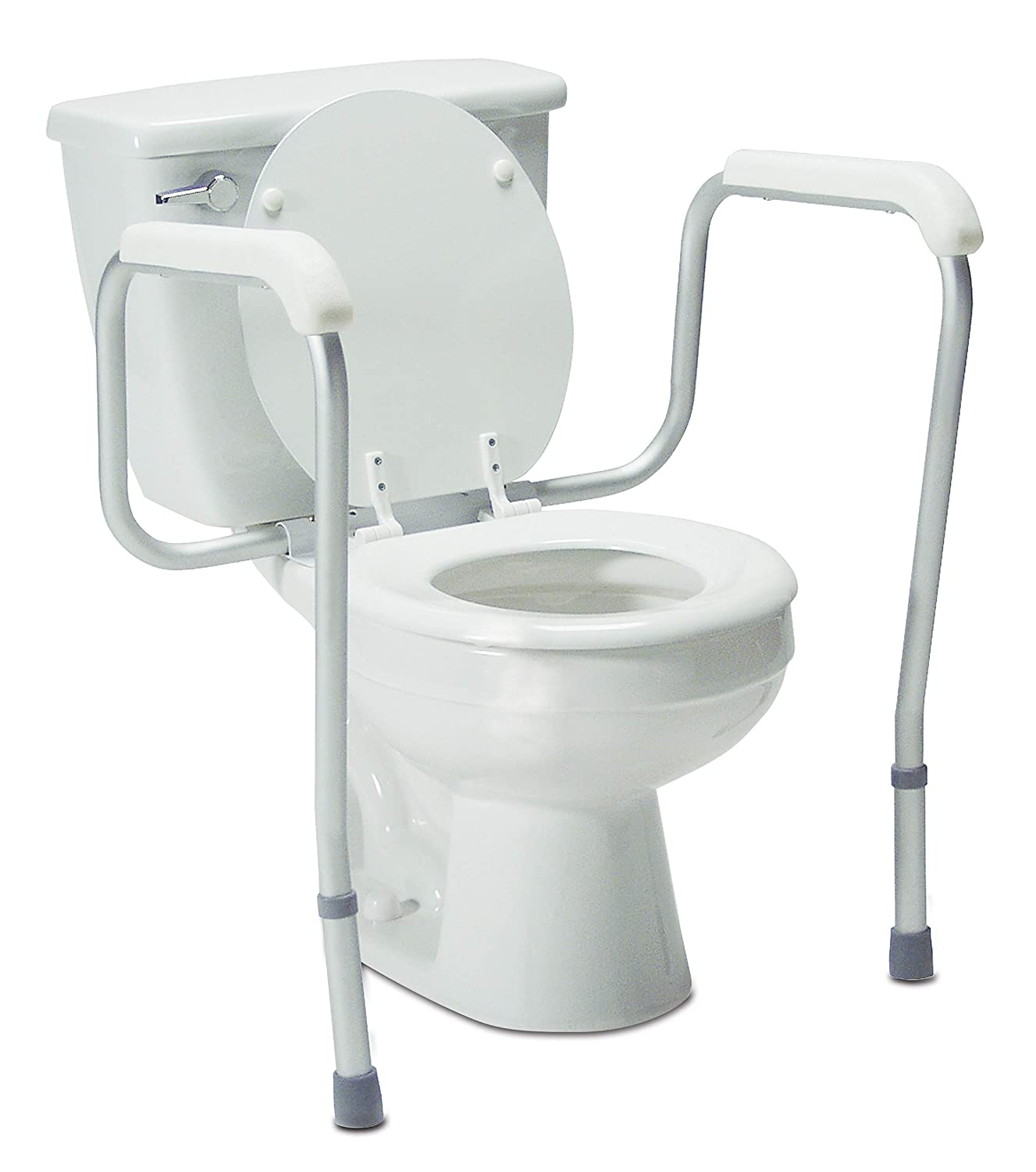 B000TVWTEK Lumex Versaframe Toilet Safety Rails with Adjustable Height and Width, 6460A (Pack of 4) 71G8cNh5gzL._SL1500_