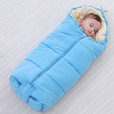 Saco de dormir para bebés, edredón para bebés, engrosamiento de otoño e invierno de doble uso, saco de dormir para bebés, manta antideslizante de terciopelo Newborn Plus: Amazon.es: Bebé