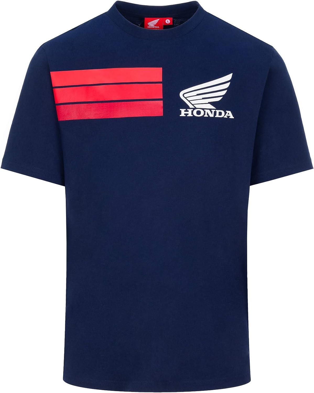 M HRC RACING T-Shirt Ufficiale 3 Strisce MotoGP Blu