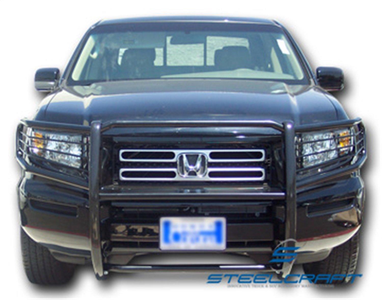 Amazon.com: Steelcraft 55070 Black 1 Piece Grille Guard for Honda Ridgeline:  Automotive