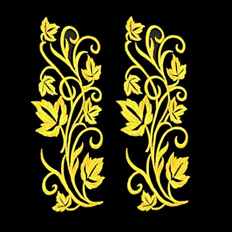 10x Golden Music Note Iron-On Patches Embroidery Applique Badge DIY Jeans Tops