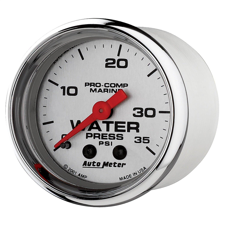 AutoMeter 200772-35 Marine Mechanical Water Pressure Gauge by AUTO METER
