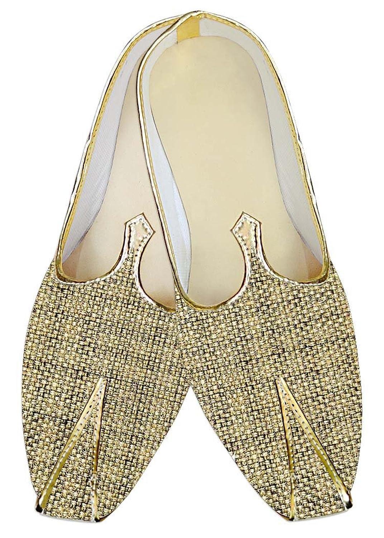 INMONARCH Yute Dorado Hombres Boda Zapatos Diseñador MJ014140 37 EU