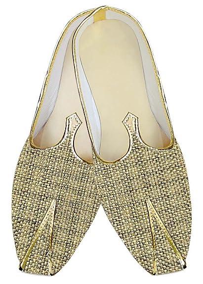 Mens Golden Jute Wedding Shoes Designer MJ014140