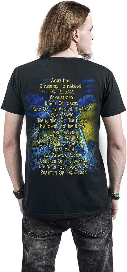 Iron Maiden Live After Death Hombre Camiseta Negro, Regular: Amazon.es: Ropa y accesorios