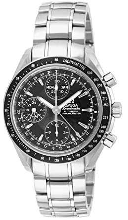 low priced a59dc eb948 [オメガ] 腕時計 スピードマスターデイデイト ブラック文字盤 自動巻 クロノグラフ 3220.50 並行輸入品 シルバー