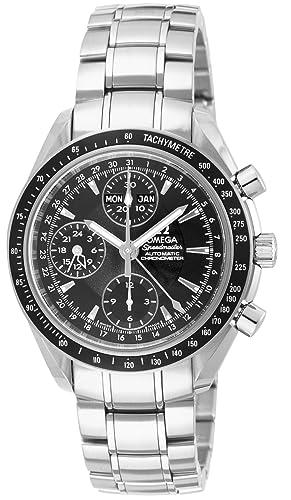 Omega de hombre 3220.50 Speedmaster analógico automático día fecha reloj, plata: Amazon.es: Relojes