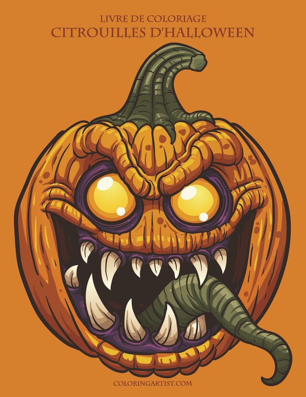 Livre De Coloriage Citrouilles D Halloween Amazon Fr Nick