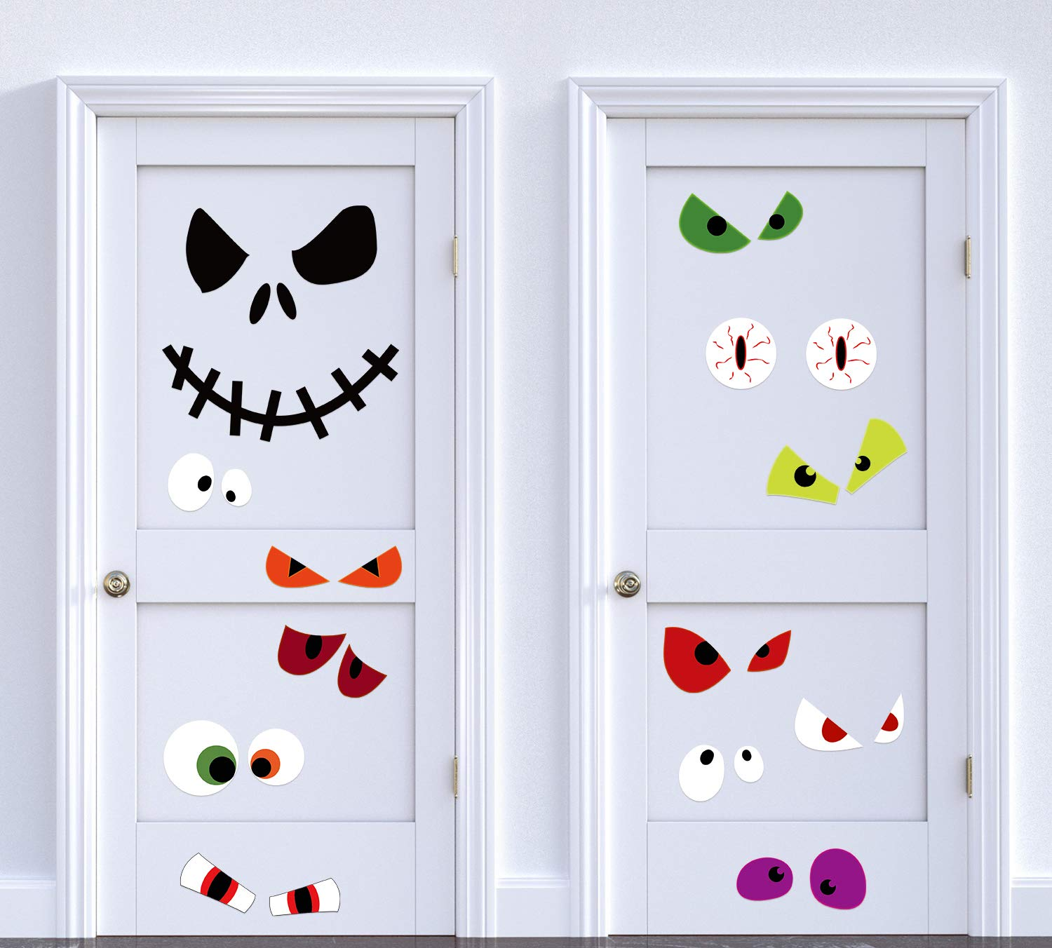 Halloween Door Decorations Monster Eyes Jack - Wall Window Room Decor Ornaments