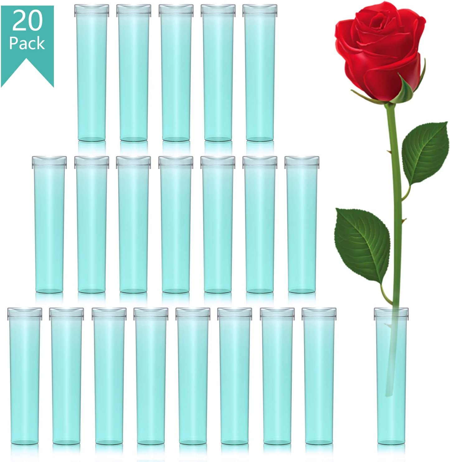 Ideal Fresh Floral Single Stem Tubes Water Pick Vial for Keeping Flowers Fresh