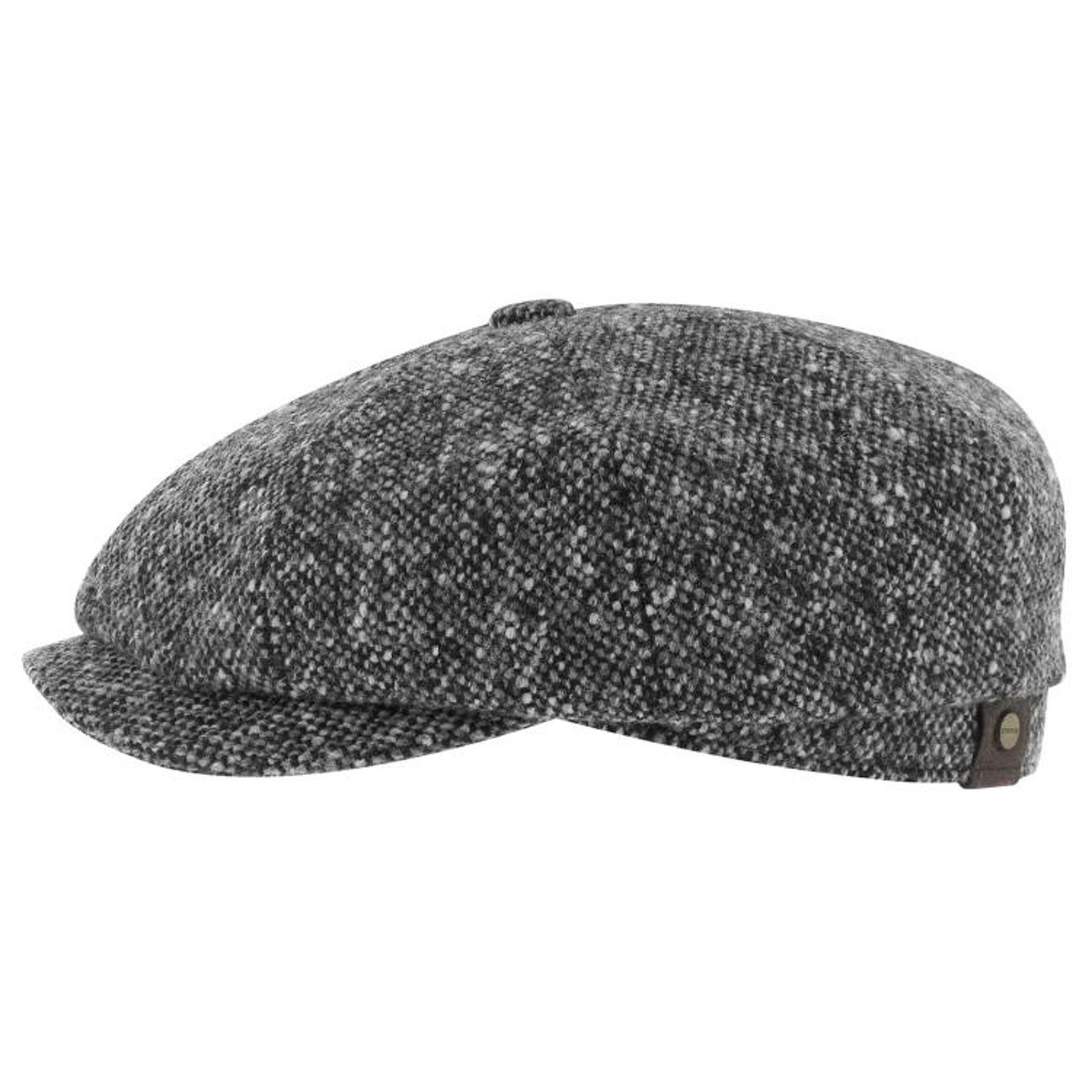Stetson Hatteras Donegal Tweed Cap berretto newsboy cappello invernale piatto