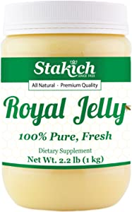 Stakich Fresh Royal Jelly - 100% Pure, All Natural, Highest Quality - No Additives/Flavors/Preservatives Added - 1 KG (2.2 LB)