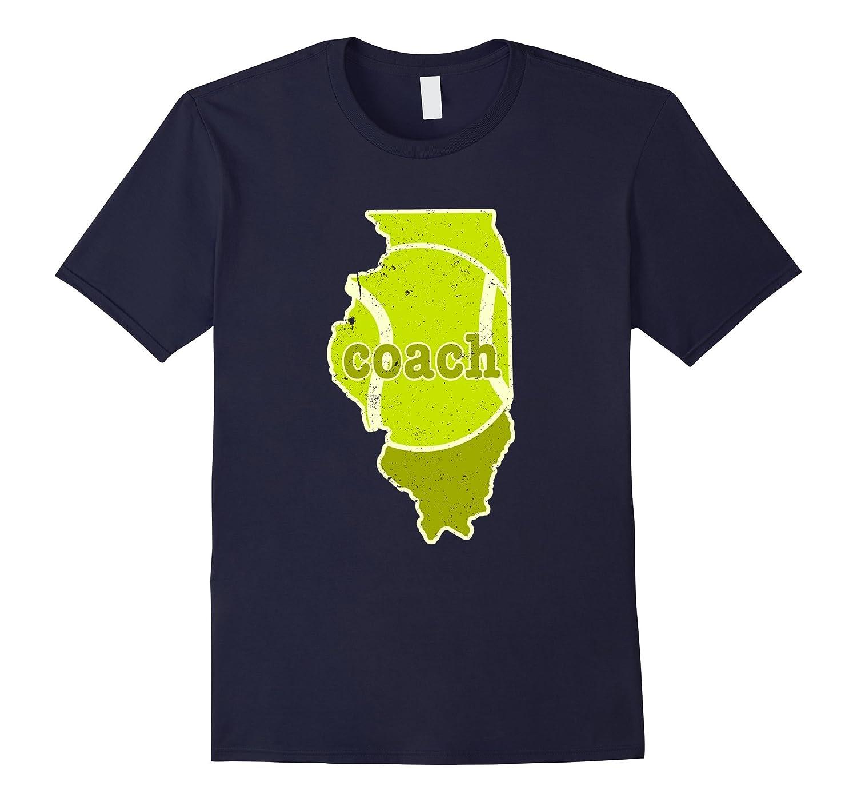 Tennis Coach Illinois Tennis T Shirt-Vaci