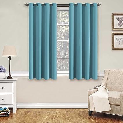 H.VERSAILTEX Blackout Aqua Curtains For Bedroom/Living Room, 52u0026quot; Wide X
