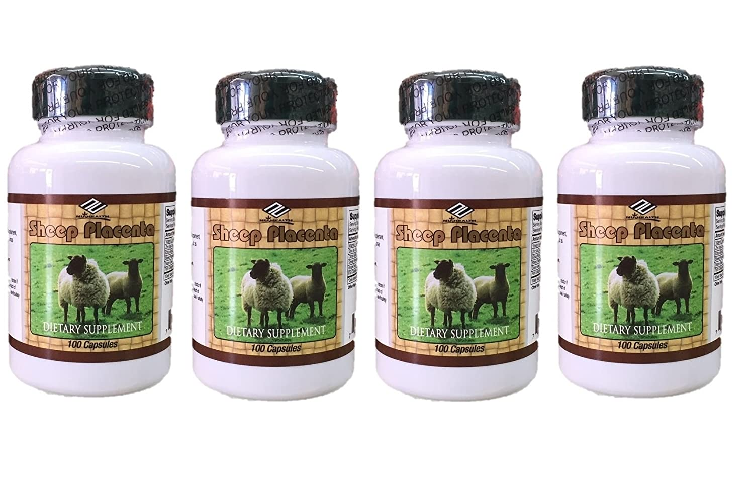 4 bottles Sheep Placenta Complex 100 Capsules bottle, Make In USA, FRESH, Faster shipping