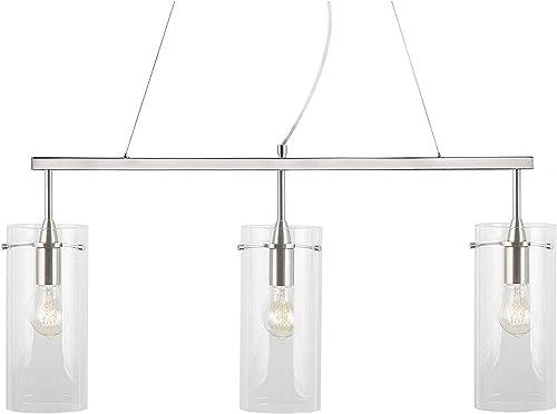Effimero Pendant Lighting for Kitchen Island Brushed Nickel Large 3 Pendant Light LL-P335-BN