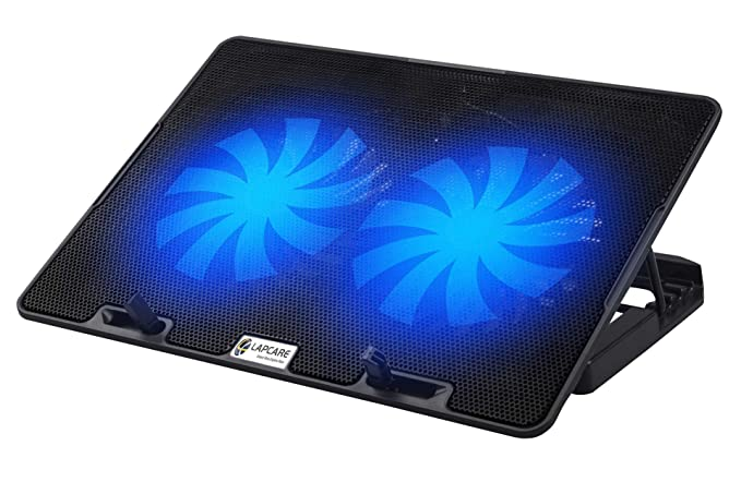 LAPCARE ChillMate Adjustable Laptop Cooling Pad with Twin Fans for Efficient Cooling Cooling Pads
