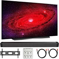 "LG OLED77CXPUA 77"" CX 4K OLED TV w/AI ThinQ (2020) with Deco Gear Soundbar Bundle"
