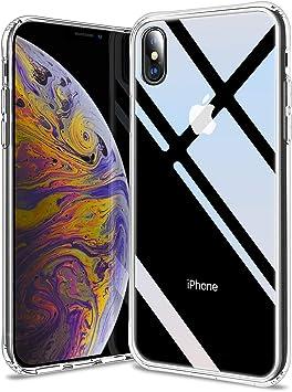 HOOMIL Transparente Funda para iPhone XS MAX, Silicona Case Cristal Templado Parte Posterior Carcasa para Apple iPhone XS MAX Smartphone: Amazon.es: Electrónica