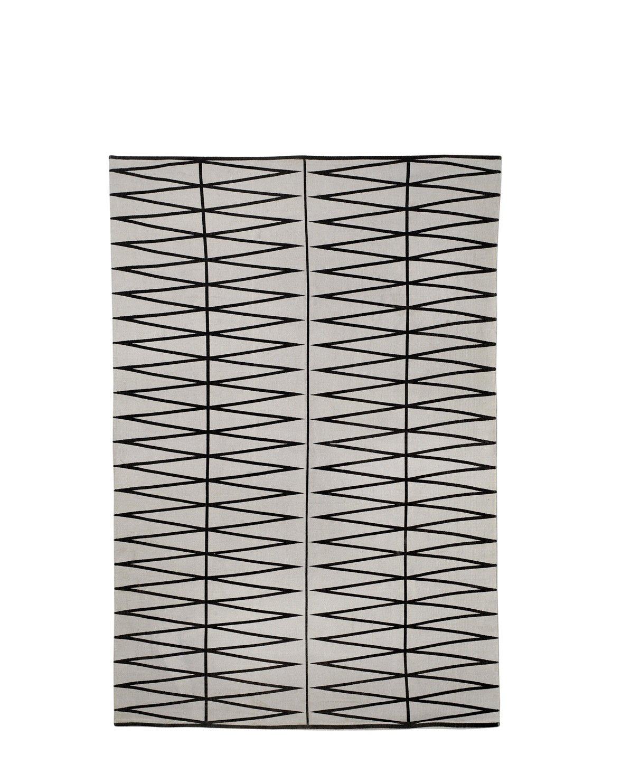 Bloomingville Rug, Printed, Grau schwarz 140x200cm