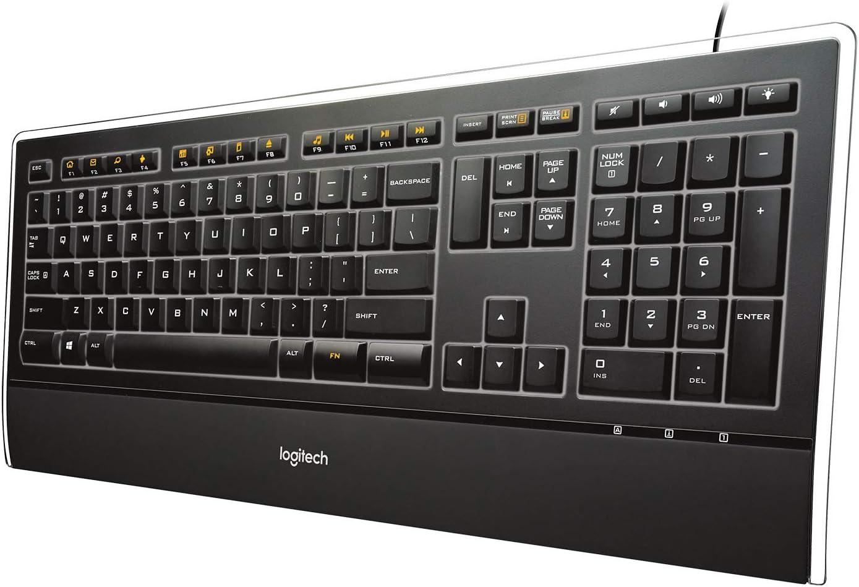Wired Illuminated German Wired Illuminated Logitech K740 Keyboard TA000156