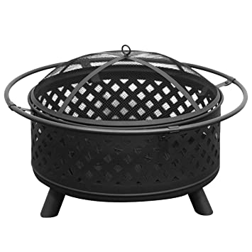 "Redondo Fire Pit Kit 30 ""al aire libre jardín mesa estufa calentador de Patio"
