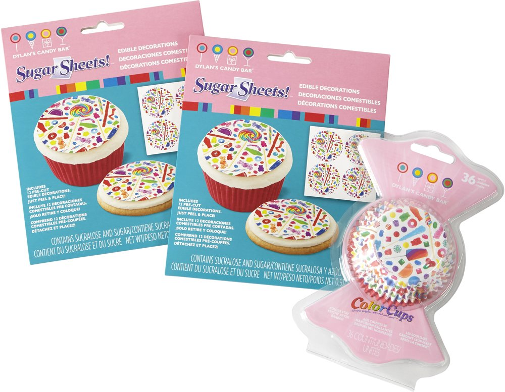 Wilton 2109-6813 Dylan's Candy Bar Cupcake Decorating Set, Assorted