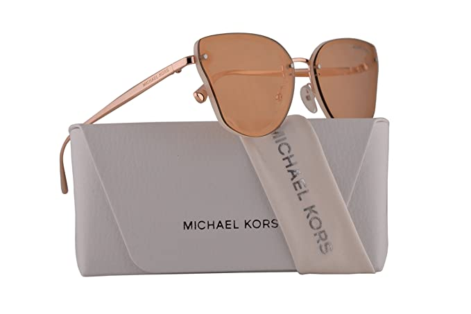 317bb21d70 Image Unavailable. Image not available for. Colour  Michael Kors MK2068  Sanibel Sunglasses Milky White w Rose Gold Mirror Lens 58mm ...