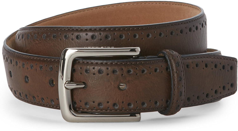 Cole Haan Belt Men Size  40  Perforated Trim Dress Belt BLACK  New