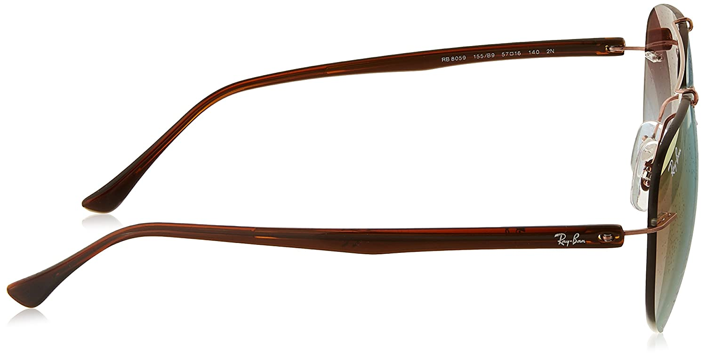 RAYBAN Men s 0RB8059 155 B9 57 Sunglasses, Copper Green Grad Brown Mirror  Pink  Amazon.co.uk  Clothing 29c122d079fd