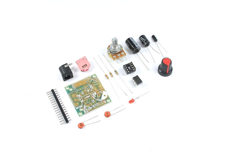 LM386 200 x módulo de amplificador de ganancia KIT 5 V 12 V 3,5 mm Mini Audio: Amazon.es: Industria, empresas y ciencia