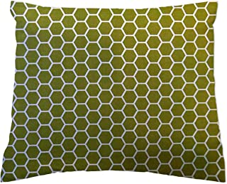 product image for SheetWorld Crib / Toddler Percale Baby Pillow Case - Sage Honeycomb - Made In USA
