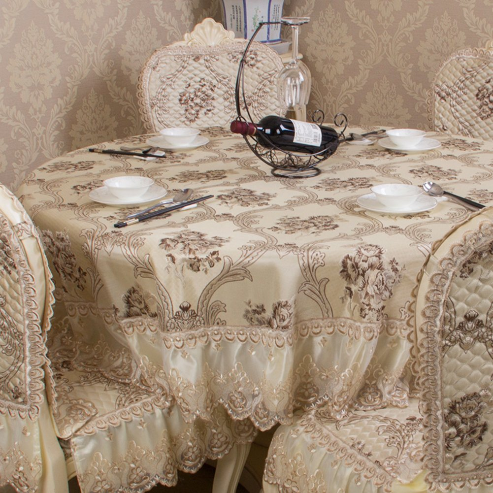 European round table Cloth lace table cloth Household round table cloth Hotel tablecloth-C diameter250cm(98inch)