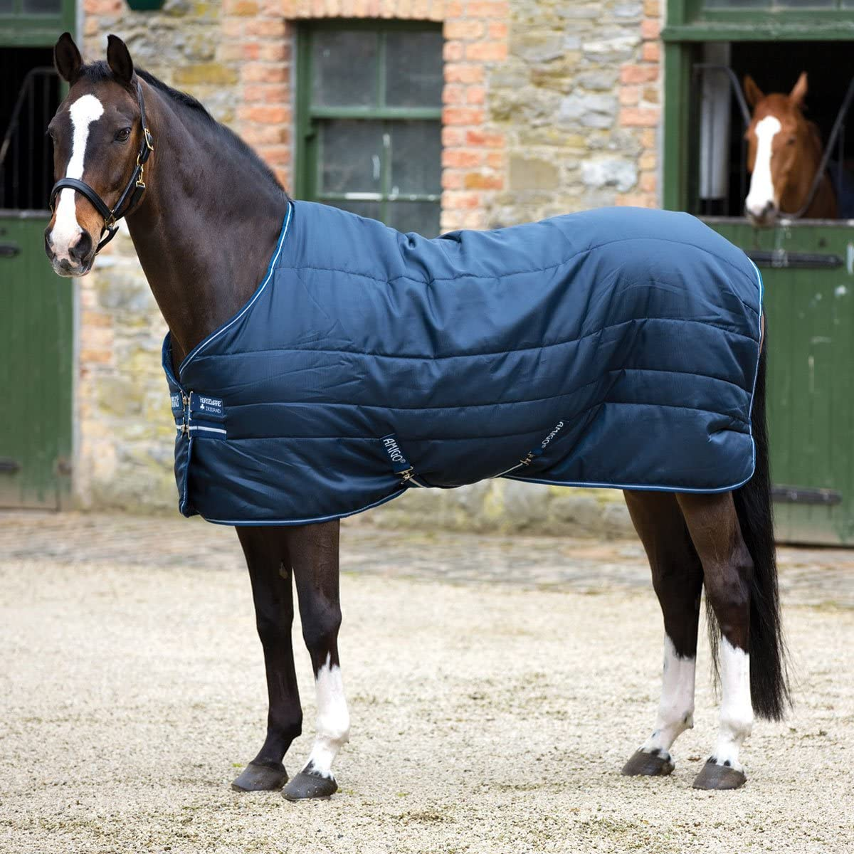 Horseware Amigo Insulator Couverture pour cheval d/écurie Bleu marine//argent/é Taille moyenne 200 g Bleu marine//gris 125