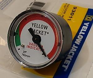 "Yellow Jacket 93011 0-30"" Vacuum Gauge for SuperEvac Vacuum Pump"
