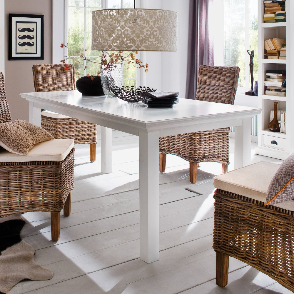 Amazon.com - NovaSolo Halifax Dining Table, 180cm, White - Tables
