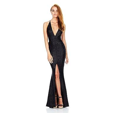 VGBRIDAL Long Front Split Sexy Prom Dresses 2017 Deep V Neck Criss Cross Back Evening Gowns