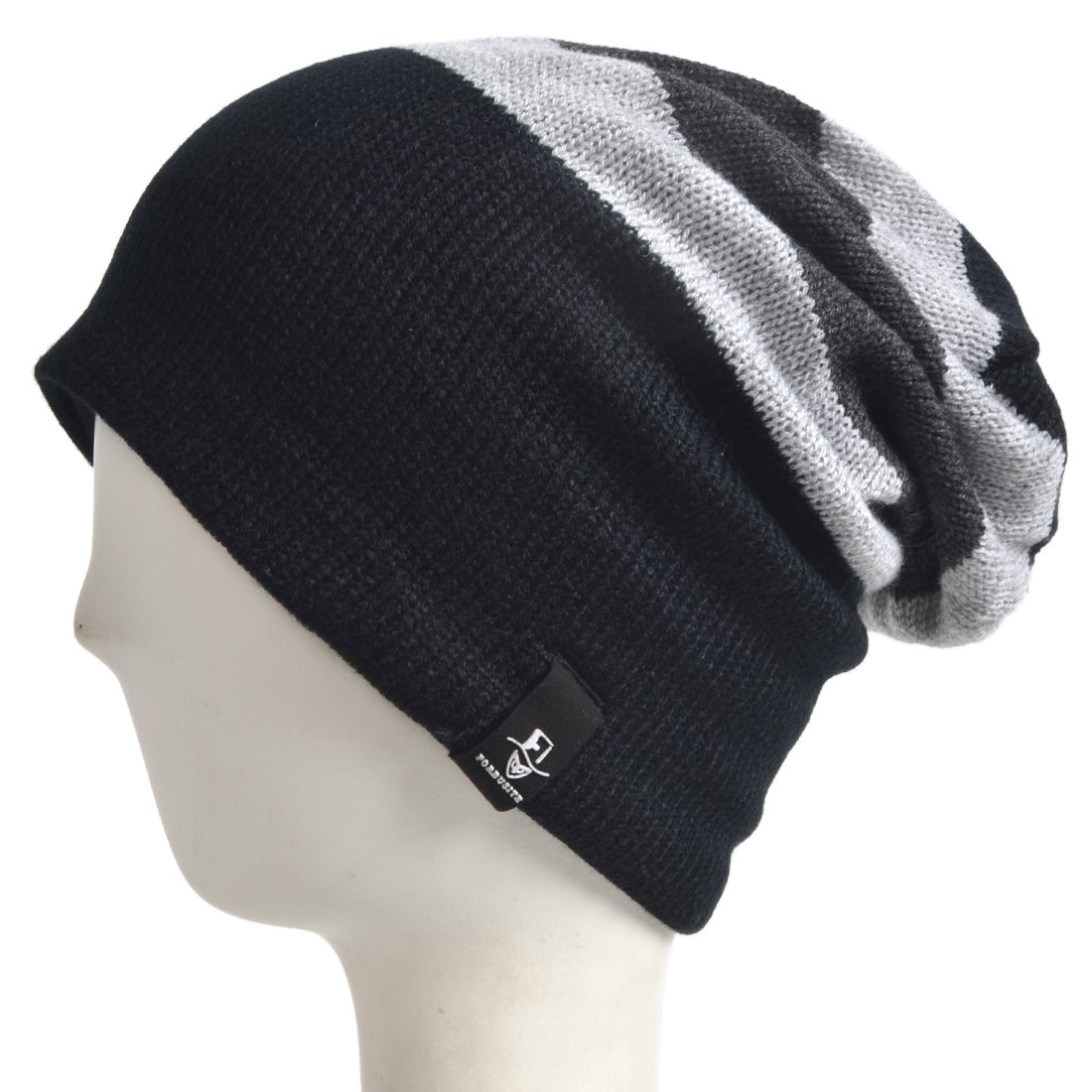 d9989d8d1 Amazon.com: VECRY Trendy Baby Beanie Winter Hat Cute Kids Boys Girls  Toddler Knitted Skull Cap (Black&Grey): Clothing