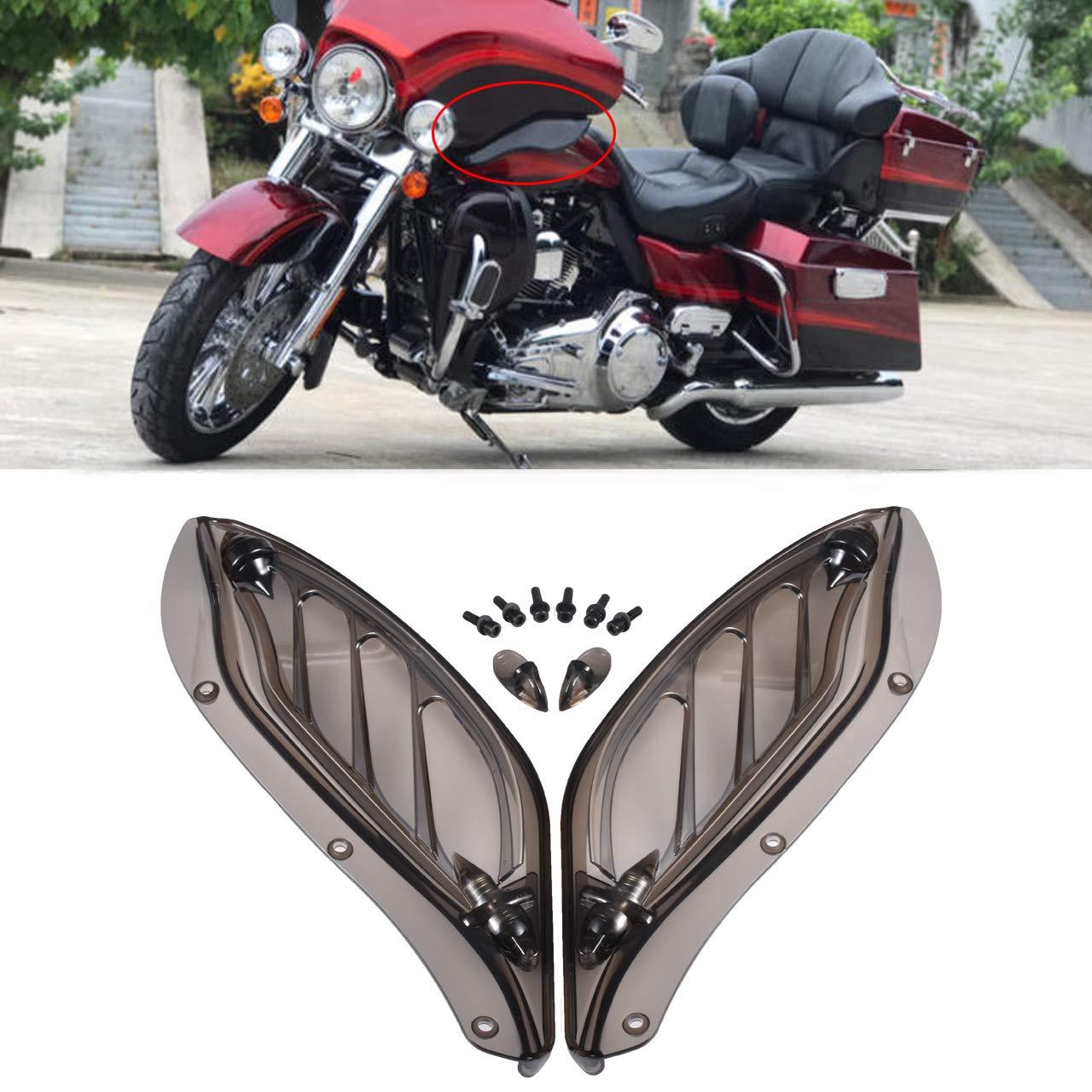Black TUINCYN Motorcycle Adjustable Side Wing Air Deflectors Fairing Harlay-Davidson 96-13