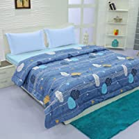 Aurome - Microfiber, Double Bed All Weather, A/C Comforter, (120 GSM) - Leaf Print, Multicolor