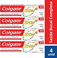 Creme Dental Colgate Total 12 Clean Mint 90g Promo Bandeja 4un