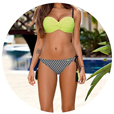 dd8a0d97d2 Image Unavailable. Image not available for. Color  Fantastic Womens Bikinis  Padded Push-Up Bra Bikini Set Swimsuit ...