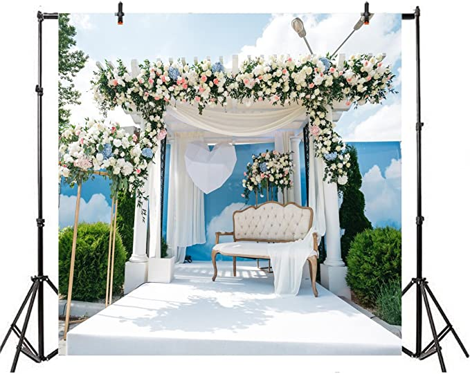 Zhy Beach Vacation Engagement Backdrop 7X5FT Wedding Groom Bridal Shower Fairy Tale June Juno Blessing Photography Background Photo Studio Booth LLST115