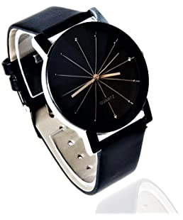 Orayan Stylish Crystal Glass Analogue Black Dial Women's and Girl's Wrist Watch