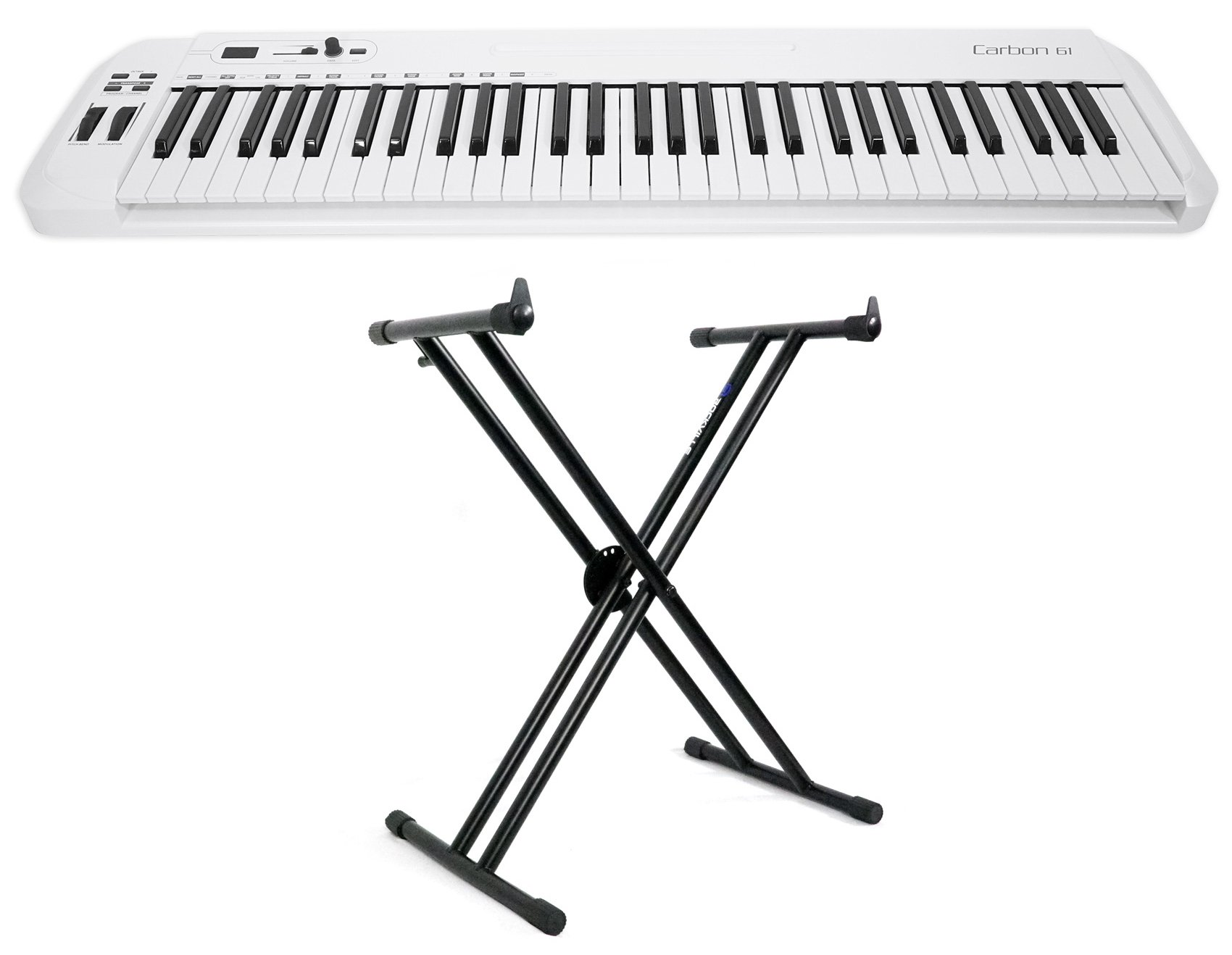 Samson Carbon 61 Key USB MIDI DJ Keyboard Controller + Software + Stand by Samson Technologies